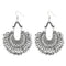 Jeweljunk Silver Plated Afghani Dangler Earrings