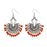 Jeweljunk Silver Plated Beads Afghani Dangler Earrings