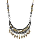 Jeweljunk Zinc Alloy 2 Tone Plated Boho Necklace