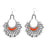 Jeweljunk Orange Meenakari Rhodium Plated Afghani Earrings