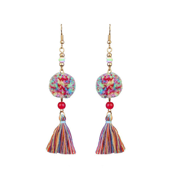 Jeweljunk Gold Plated Multi Thread Earrings
