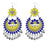 Jeweljunk Yellow Meenakari Afghani Dangler Earrings