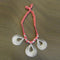 Jeweljunk Pink Thread Silver Plated Tribal Necklace