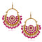Jeweljunk Gold Plated Purple Beads Afghani Earrings