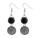 Jeweljunk Black Thread Silver Plated Dangler Earrings