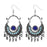 Jeweljunk Blue Meenakari Afghani Earrings