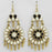 Jeweljunk White & Black Meenakari Afghani Earrings