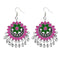 Jeweljunk Meenakari Silver Plated Afghani Earrings