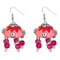 Jeweljunk Pink Meenakari Rhodium Plated Jhumki Earrings