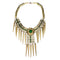 Jeweljunk Green Beads Gold Plated Statement Necklace