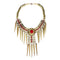 Jeweljunk Maroon Beads Gold Plated Statement Necklace