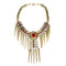 Jeweljunk Red Beads Gold Plated Statement Necklace