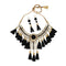 Jeweljunk Black Thread Gold Plated Statement Necklace