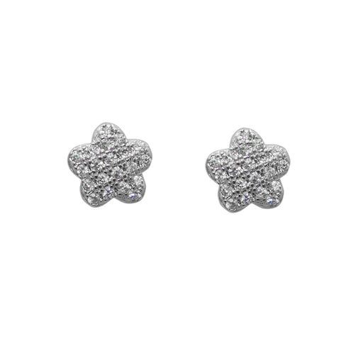 Eleonora American Diamond Floral Stud Earrings