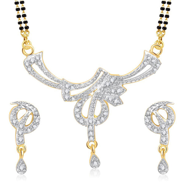 Morini Gold Plated American Diamond Mangalsutra Set
