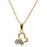Regina White Stone Heart Shaped Chain Pendant