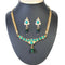 The99Jewel Green Pota Stone Pearl Necklace Set - 1101008 -CL