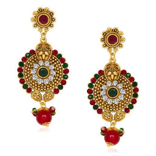 The99Jewel Gold Plated Austrian Stone Dangle Earrings