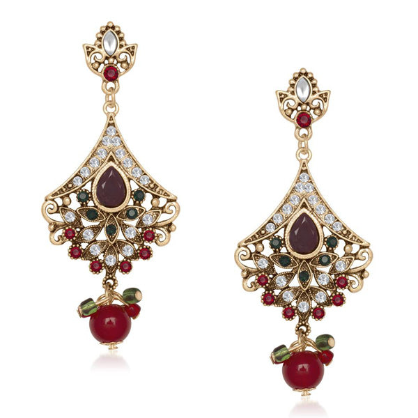 The99Jewel Kundan Stone Dangler Earring