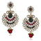 Soha Fashion Stone Antique Gold Plated Kundan Dangler Earrings