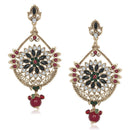 The99Jewel Red Stone Gold Plated Dangler Earring