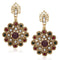 Soha Fashion Antique Gold Plated Green Stone Dangler Earrings