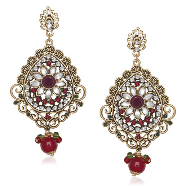 Soha Fashion Kundan Stone Dangler Earrings