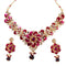 Soha Fashion Purple Meenakari Stone Drop Necklace Set