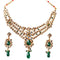 Soha Fashion Gold Plated White Kundan Necklace Set