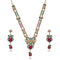 Soha Fashion Multicolour Stone Drop Necklace Set