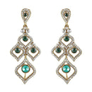 Soha Fashion Gold Plated White Austrian Stone Dangler Earrings