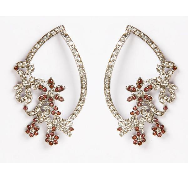 Soha Fashion Silver Plated Austrian Stone Dangler Earrings