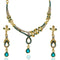 The99Jewel Gold Plated Blue Austrian Stone Necklace Set
