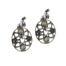The99Jewel Stone Green Oxidised Dangler Earring