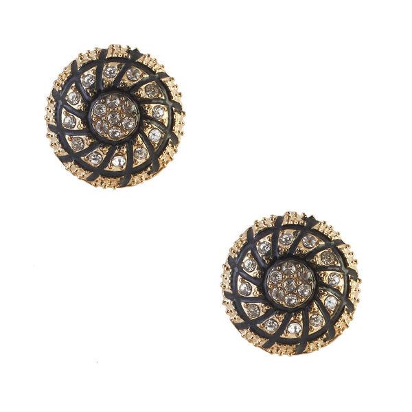 The99Jewel Stone Gold Plated Stud Earring