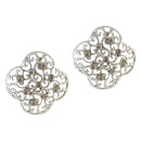 The99Jewel Austrian Stone Rhodium Plated Studs Earrings