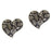 The99Jewel Stone Heart Rhodium Plated Stud Earring