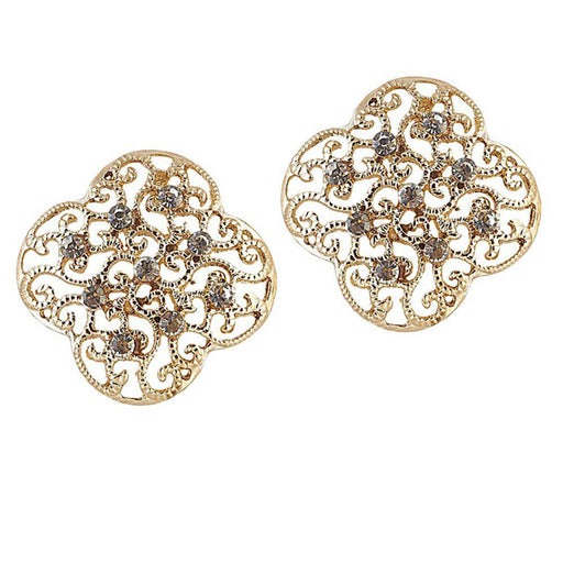 The99Jewel Austrian Stone Gold Plated Stud Earrings