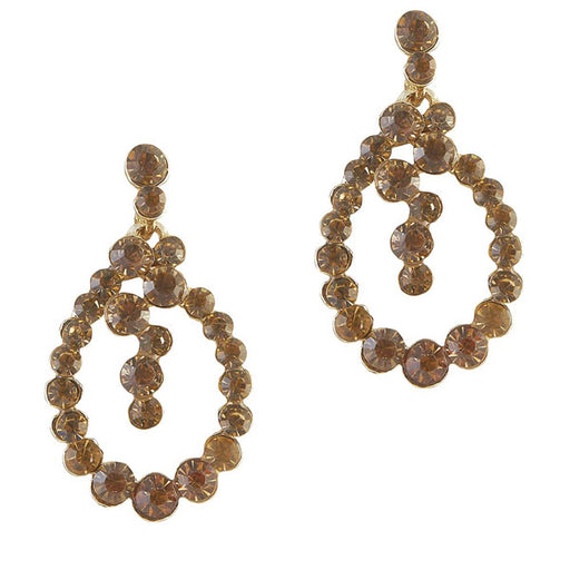 The99Jewel Stone Gold Plated Dangler Earring