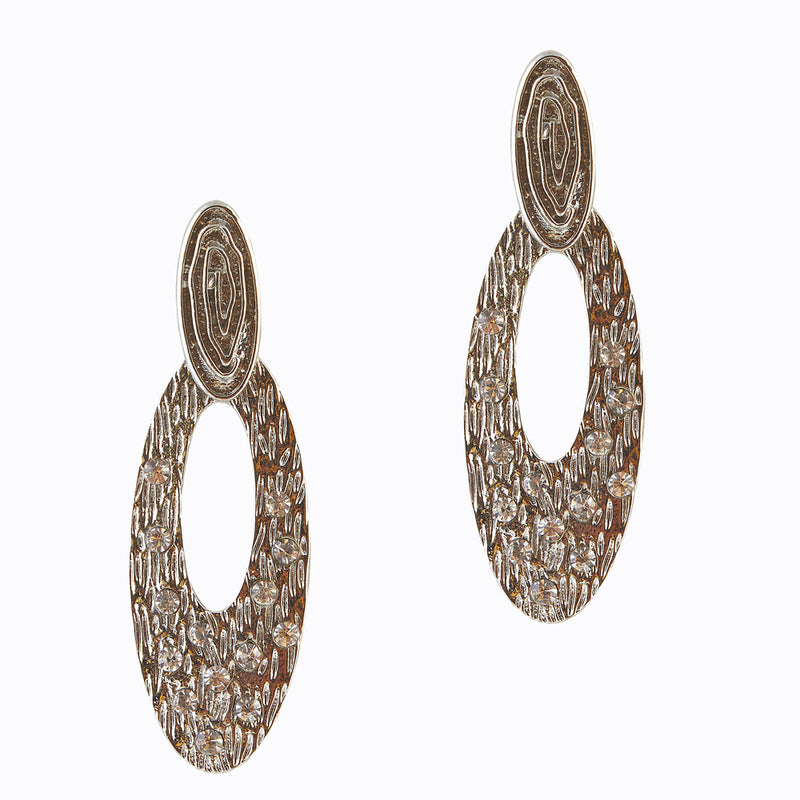 The99Jewel Zinc Alloy Silver plated Stone Dangler Earring