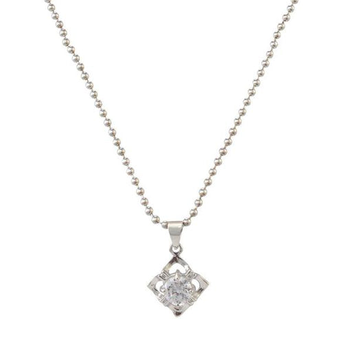 The99Jewel Silver Plated Austrian Stone Chain Pendant - 1200945 - FS