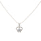 The99Jewel Silver Plated Austrian Stone Chain Pendant  - 1200955 - AS