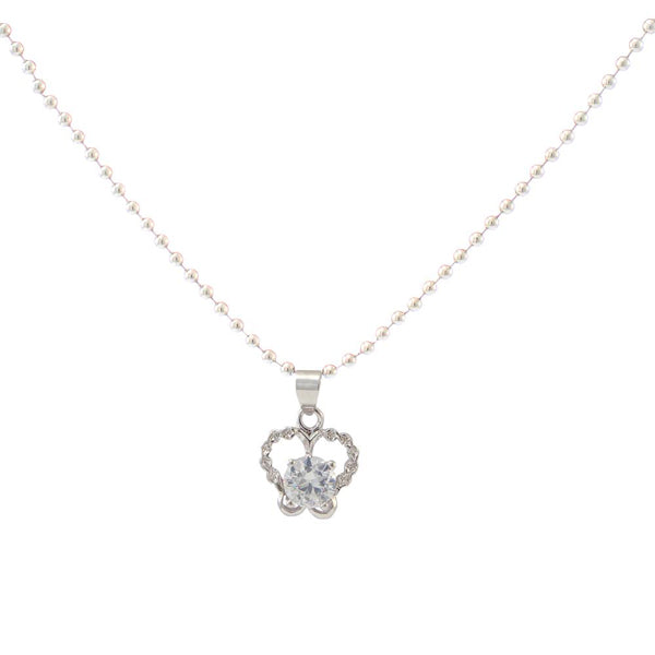The99Jewel Silver Plated Austrian Stone Chain Pendant
