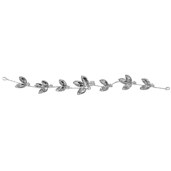 Apurva Pearls Silver Plated Stone Hair Brooch