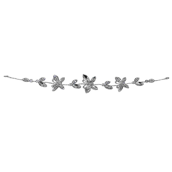 Apurva Pearls Silver Plated Stone Butterfly Design Hair Brooch