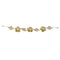 Apurva Pearls Stone Gold Plated Double Floral Design Hair Brooch