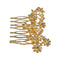 Apurva Pearls Stone Floral Design Gold Plated Hair Brooch