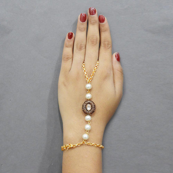 Apurva Pearls Austrian Stone And Pearl Hand Harness