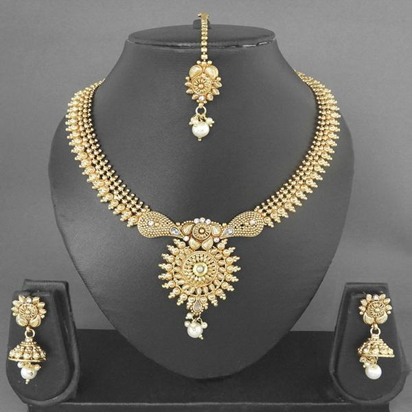 Sai Raj Copper Necklace Set With Maang Tikka - FAP0011A