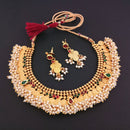 Sai Raj Copper Pearl Gold Plated Temple Coin Necklace Set